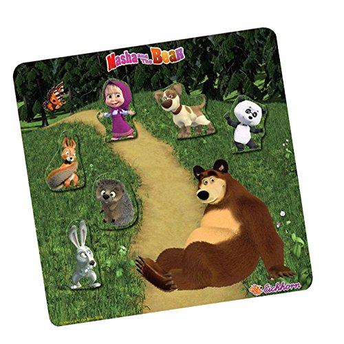 Simba - 109304081 - Puzzle Magnétique - Macha et l'ours - 7 Pièces