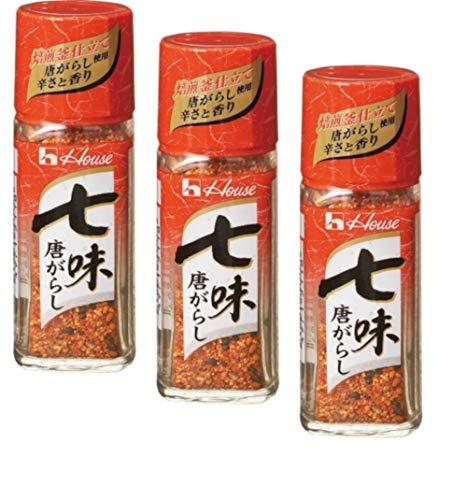 Japanischer Shichimi Togarashi, Chili-Pfeffer-Gewürzmischung mit sieben Geschmacksrichtungen, 3er-Set, 3 x 17 g