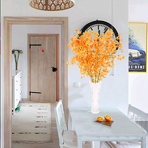 NAHUAA 4Pcs Künstliche Blumen Orange Deko Kunstblumen Rot Pfingstrose Plastikblumen Künstlich Dekoblumen Unechte Blumen Kunstpflanzen für Hochzeit Balkon Garten Topf Vase Dekoration - 7
