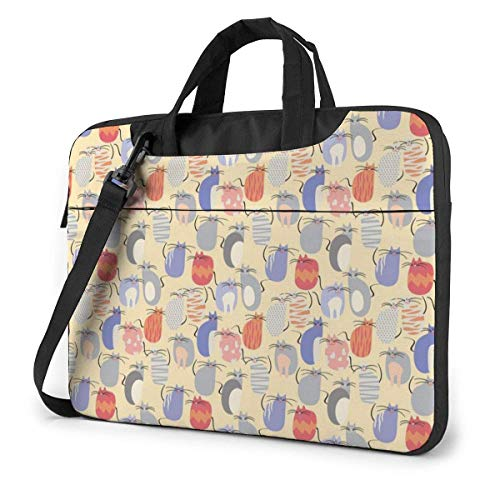 IUBBKI Laptop Case Computer Bag Sleeve Cover Cat Design Waterproof Shoulder Briefcase 13 14 15.6 Inch