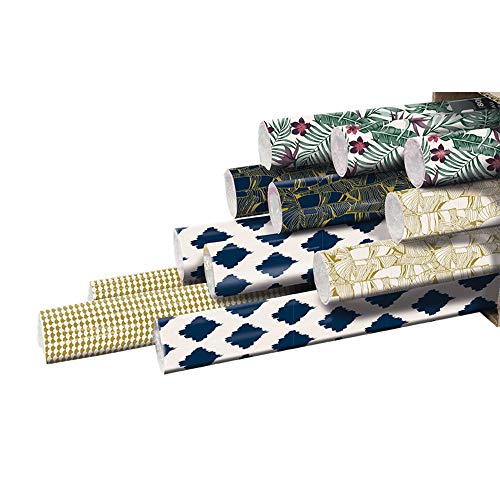 Clairefontaine 211414AMZC - Caja de 12 rollos de papel de regalo Excellia (2 x 0 m70, 80 g)