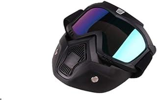 fghfhfgjdfj Máscara de Gafas de Motocicleta Todoterreno Harley Casco Gafas tácticas Gafas de esquí a Prueba de Viento Equipo de Accesorios para Montar (Colorido)