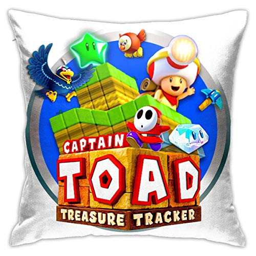 XCNGG Captain Toad Treasure Tracker Literie Couvre-oreillers Taies d'oreiller