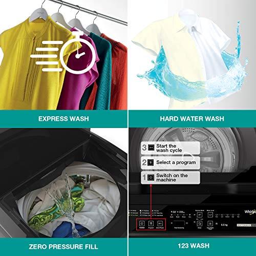 Whirlpool 6 Kg 5 Star Royal Fully-Automatic Top Loading Washing Machine (WHITEMAGIC ROYAL 6.0 GENX, Satin Grey, Hard Water Wash) 6