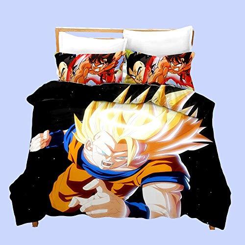 AMCYT Dragon Ball - Juego de ropa de cama (135 x 200 cm y 50 x 75 cm), diseño de Dragon Ball
