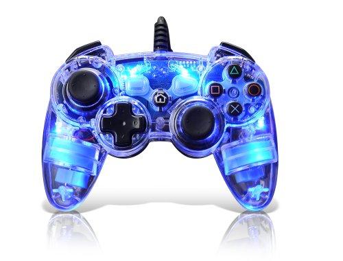 Manette filaire bleue pour PS3 - Afterglow AP-1