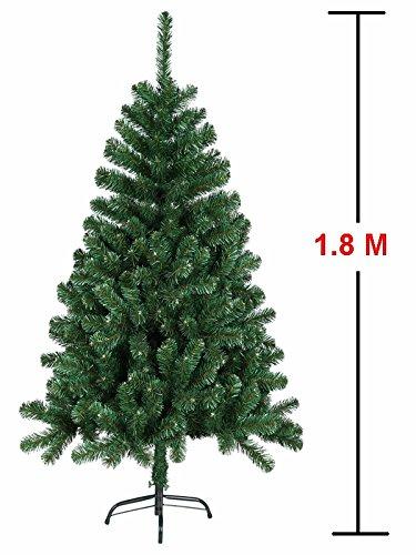 MCTECH Festive Künstlicher Weihnachtsbaum mit Ständer Andere Größe- Farbe: Grün PVC Dekobaum (180CM)