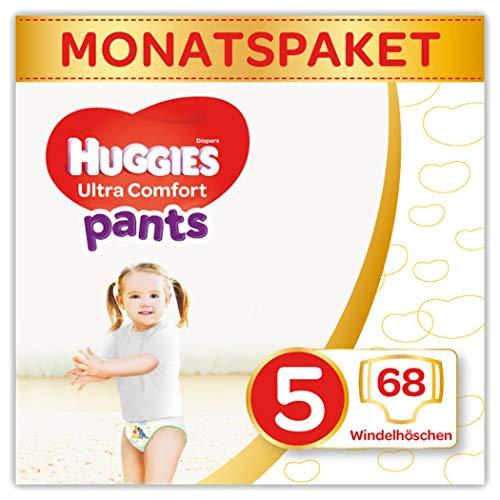 Huggies Windeln Ultra Comfort Pants Größe 5 (12-17 kg) Monatsbox, 2er Pack (2 x 34 Stück=68 Stück)