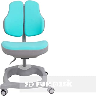 FD FUN DESK Diverso Green-Silla de Escritorio ergonómica para niños (Altura Regulable), Color, Verde Menta, 510x470x780 mm