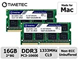 Timetec Hynix IC compatible with Apple 16GB Kit (2x8GB) DDR3 1333MHz PC3-10600 SODIMM Memory Upgrade For MacBook Pro,iMac...
