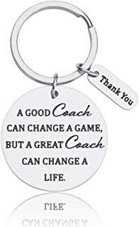Coach Gifts Keychain for Men Women Coaches for Birthday Christmas Thanksgiving Day Engraved A Good Coach Can Change A Game A Great Coach Can Change A Life Thank You Gifts from Players
