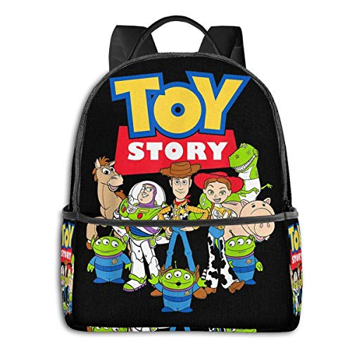 HuangYongHongPODFPO Toy Story Buzz Woody Jessie Backpack Unisex Students Bookbag Canvas
