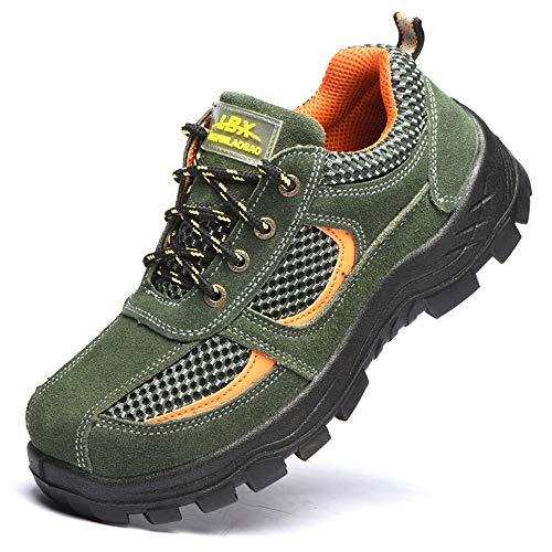 Men's shoes ademende veiligheidsschoenen voor heren, legergroen, 36-46, werkplaats Site anti-smashing antislip veiligheidsschoenen, beschermende uitrusting schoenen casual sneakers Fyxd