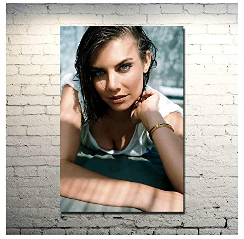 DNJKSA Lauren Cohan Attrice Serie TV Walking Dead Tela Poster Stampa su Tela Wall Art Pittura per Soggiorno Decorazioni per la casa (50x75cm -20x30 in No Frame