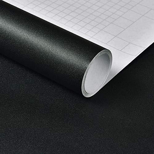 Papel Adhesivo para Mueble Negro 40X300 cm PVC Material Adhesivo para Muebles Armario Decorativo Encimeras Mostradores de Bar Pegatinas de Renovación de Muebles