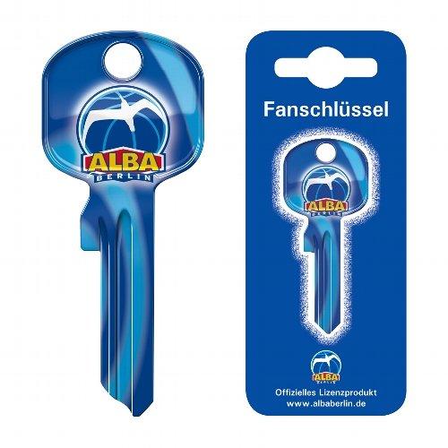 Fanschlüssel Schlüsselrohling Schlüsselanhänger Fanartikel Schlüsseldienst Alba Berlin