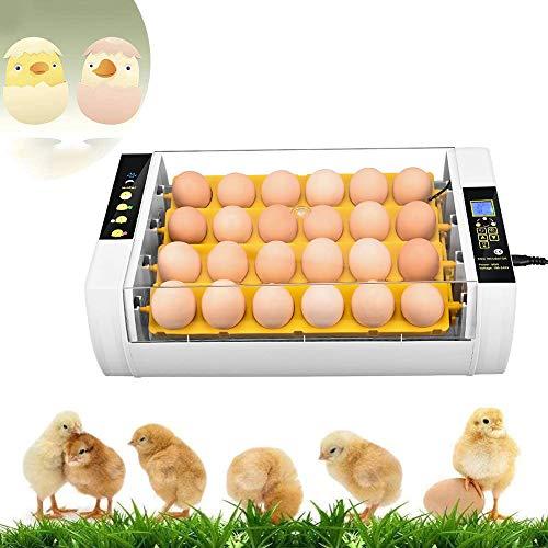 TTLIFE Inkubator hühner vollautomatisch automatischer Eierbrutschrank Brutmaschine mit Temperaturregelung brutmaschine vollautomatisch hühner für bis zu 24 Hühnereier