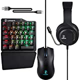 ZJFKSDYX C91MAXPro Gaming Keyboard & Mouse with Headset for N-Switch/Xbox One/PS4/PS3