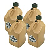 4 Pack VP 5 Gallon Square Tactical Tan Racing Utility Jugs