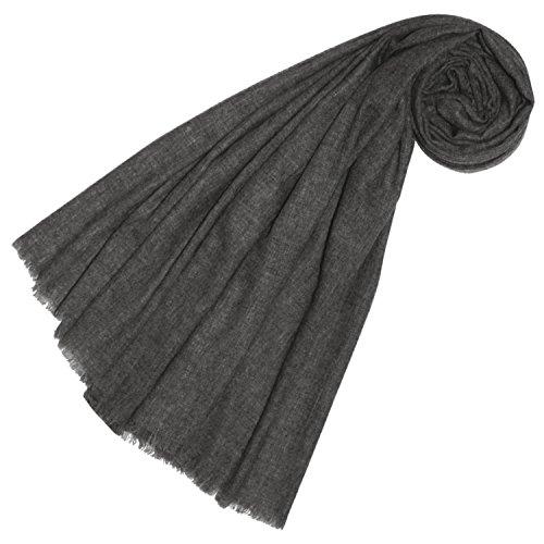 LORENZO CANA Luxus Yakwolle Damen Schal weich und flauschig Yak Schaltuch 100% Yak-Wolle Yakwolleschal Uni Einfarbig 78322