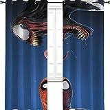 aotuma Spiderman Venom Comics Avengers Rideaux occultants occultants à œillets thermiques pour chambre 243,8 x 120 cm