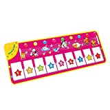 M SANMERSEN Piano Mat, Musical Keyboard Playmat 39.5' Electronic Music Animal Touch Play Blanket Funny Xmas Gift Toy