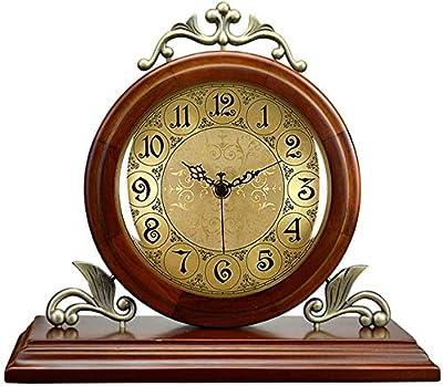 EXCLVEA Reloj De Mesa Reloj de Mesa de Metal Silencio de Mesa ...