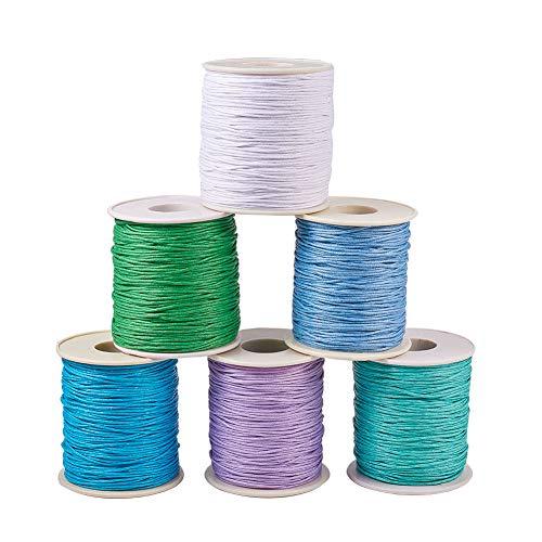 PandaHall Elite 1 mm Gewachst Baumwollgarnen Schnur Kit gemischte Farbe