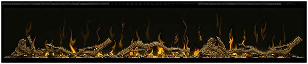 Dimplex IgniteXL 60-Inch Electric Fireplace w/Driftwood Log Kit - XLF60 & LF74DWS-KIT