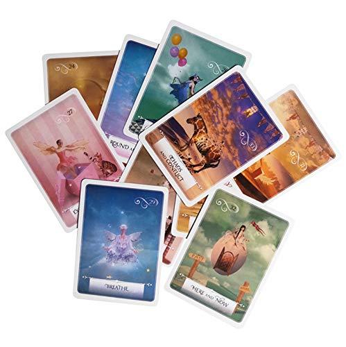 URNOFHW Neues Wissen Weisheit Orakel-Karten 52 Karten/Set Englisch mysteriös Vermögen Tarot-Karten-Spiel for Mädchen Kartenspiel Familie