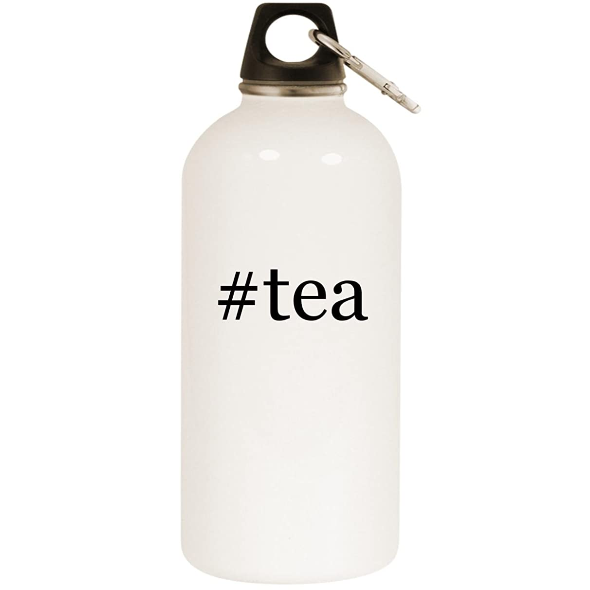 Molandra Products #Tea - White Hashtag 20oz Stainless Steel Water Bottle with Carabiner