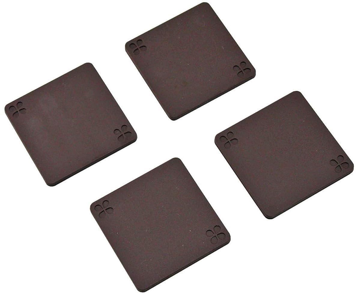 交換改善する貼り直す下村企販 ソファーマット チョコブラウン 8×8cm 35427