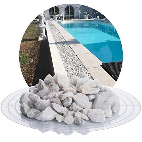Schicker Mineral Marmorsplitt weiß 25 kg weißer Naturstein Splitt in verschiedenen Größen ideal zur Gartengestaltung (Marmor Splitt, 16-32 mm)