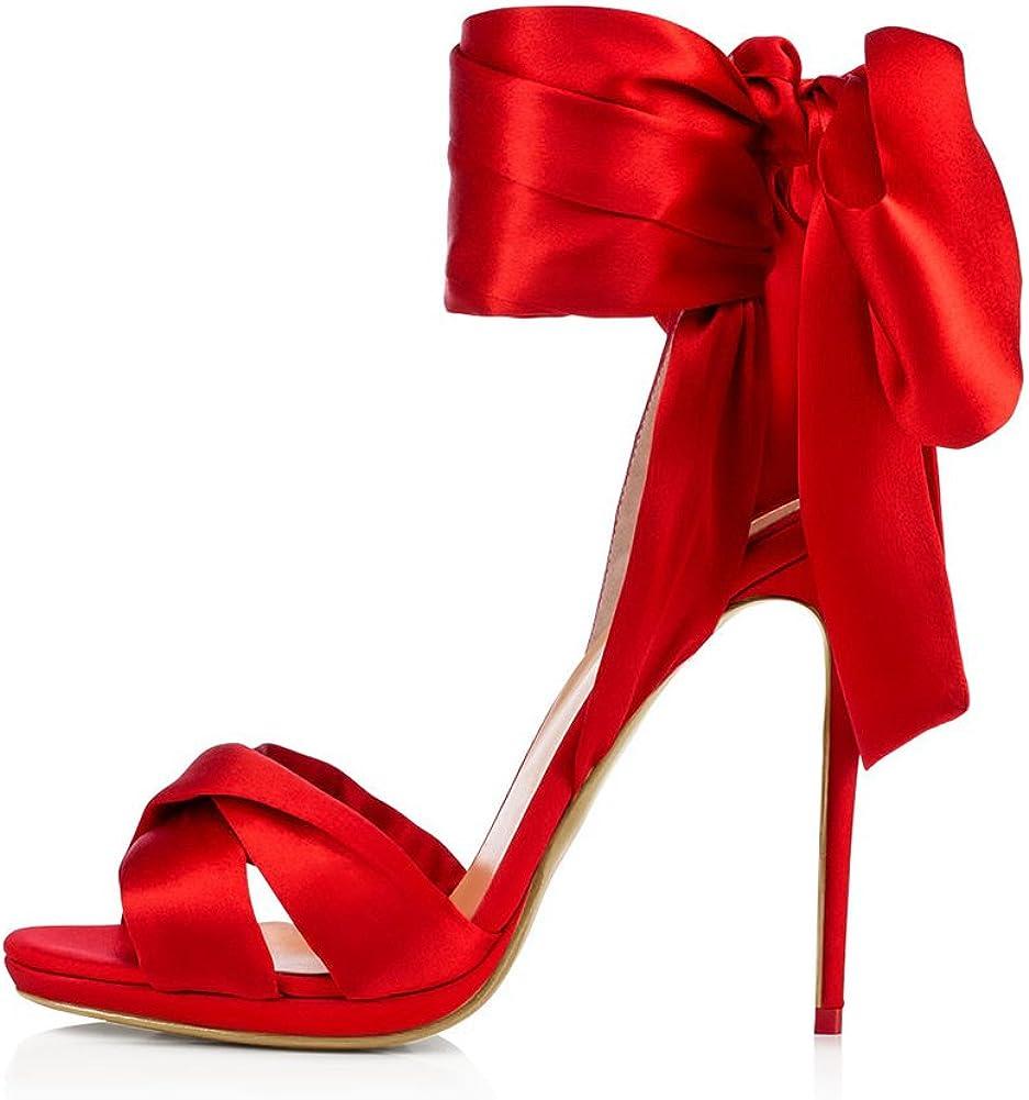 Amy Q Sexy Women's Satin Wrapped Sanda Heels Washington Mall Strappy SALENEW very popular High Heeled
