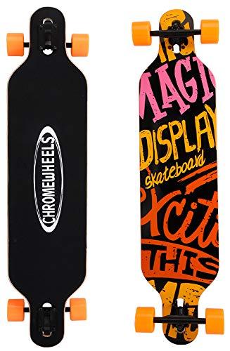 ChromeWheels 41 inch Longboard Drop Through Deck Skateboard Complete Cruiser