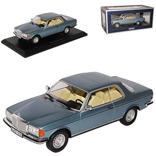 Norev Mercedes-Benz E-Klasse Coupe 280 CE C123 Blau Silber 1975-1986 1/18 Modell Auto