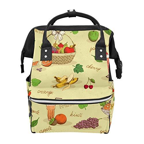 Rucksack Korb Obst Erdbeere Traube Banane Orange Saft Ananas Große Kapazität Tasche Reise Daypack