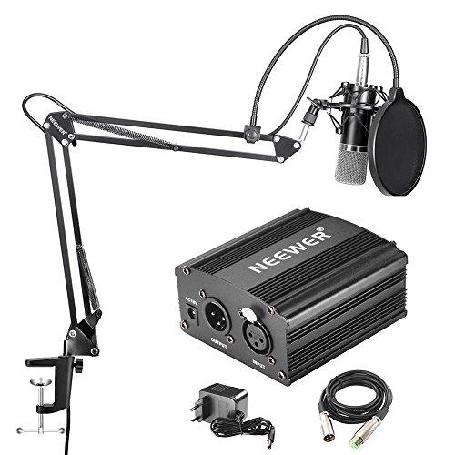 Neewer NW-700 Micrófono de Condensador Profesional & NW-35 Suspensión Auge Tijera Brazo...