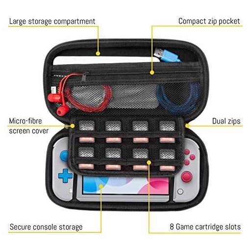 Funda para Nintendo Switch Lite – Estuche Protector rigida, para Llevar Nueva Switch Lite Consola (2019) y Sus Juegos y… 6