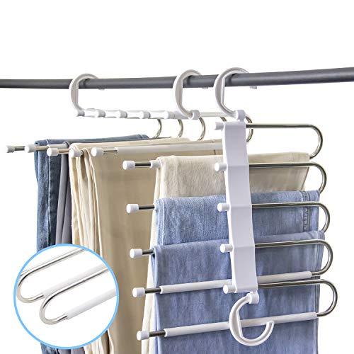 Furmenic Closet Space Saving Pants Hangers Non-Slip Clothes Organizer 5