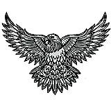 VEGASBEE American Bald Eagle US National Symbol Biker Jacket Vest Reflective Large Embroidered Iron-ON Patch 12' USA (Reflective Grey)