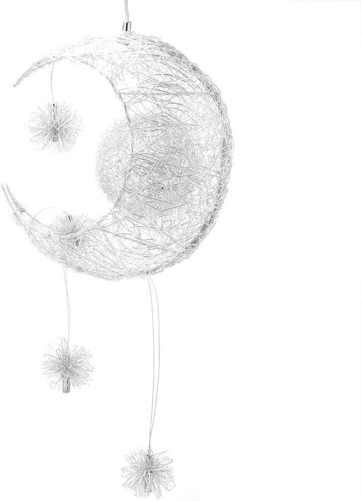 ALLOMN LED Pendelleuchte, Deckenleuchte Fairy Lampe Mond und Sterne Pendelleuchte Schlafzimmer Kronleuchter Großes Geschenk für Kind Freund Warmweiß