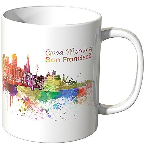 """Wandkings® Tasse, Schriftzug\""""Good Morning San Francisco!\"""" mit Skyline - Weiß"""