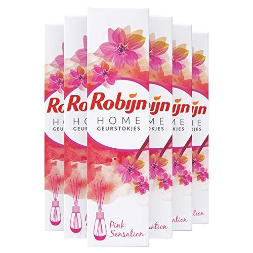 Robijn Pink Sensation Geurstokjes 6 x 45 ml Voordeelverpakking