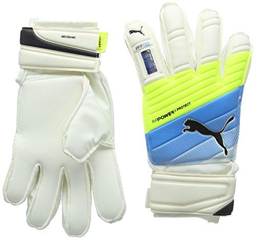 PUMA Torwarthandschuhe Evopower Protect 3.3, White/Atomic Blue/Safety Yellow, 5