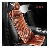 WEIWEIMITE Cojines de Asiento de automóvil para Conducir, Natural Bamboo Cool and-Slip con una Almohada Lumbar, por Almohada Fácil de Limpiar, 4 Tipos de Estilos Opcionales (Color : B, Size : 2pcs)