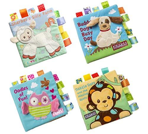 Baby Träne Nicht Schlecht Tuch Buch Tier Stickerei Label Dreidimensionale Tuch Buch Baby Pädagogisches Spielzeug Buch