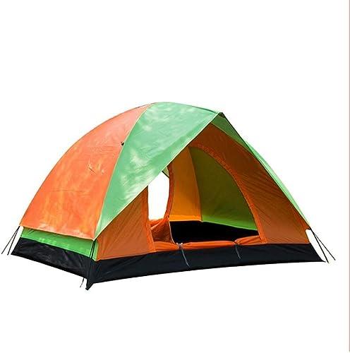 CATRP Marque Double Porte Double Tente De Camping Auvent Coupe-Vent en Plein Air portable Dix, Orange (Taille   200X150cm)