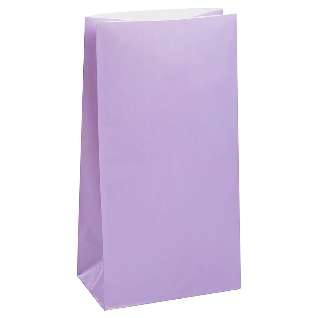 Lavender Paper Party Bags, 12ct