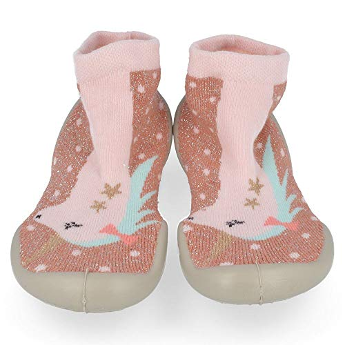 Collegien Licorne Hausschuhe Socken Gr. 32/33